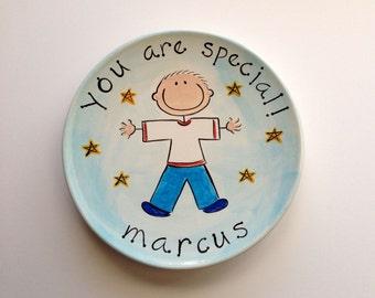 you are special custom ceramic plate for boy