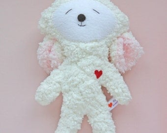 Yellow Easter Lamb - Stuffie - Stuffed Animal - Super Soft Plushie