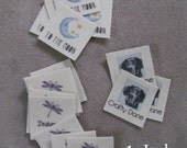 Organic Cotton Custom clothing labels using your logo Square Labels