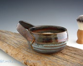 Shaving Mug in Rustic Iron Blue - Pottery Mug - by DirtKicker Pottery