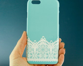 Robins Egg Blue iPhone 6 Case, Lace iPhone 5S Case, Vintage Lace Aqua iPhone 6 Plus Case Lace  iPhone 5C, Wedding Blue