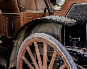 1909 - High Wheeler - Old Car - Turn of the Century Car - 1909 High Wheeler - Early Vehicles - Fine Art Photography