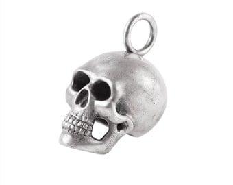 Big Sterling Silver Skull