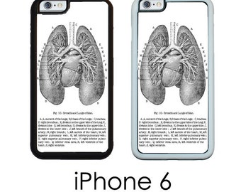 iPhone 6S 6 or PLUS  Lungs medical Chart Vintage Medical Chart Anatomical Lungs Case Your Trim Choice Hard , Rubber or Tough Cases
