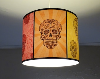 Skull lamp Rainbow Sugar Skulls pendant lamp shade lampshade - sugar skull, unique lighting, calavera,Day of the Dead,mexican decor,bohemian