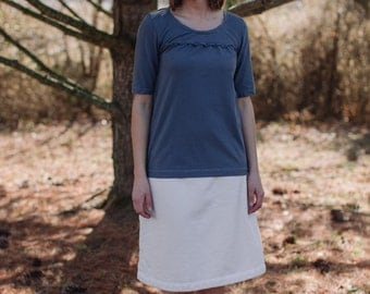 Organic Cotton Clothing Sweatshirt Fleece Skirt  Made in the USA - Organic Cotton Clothing