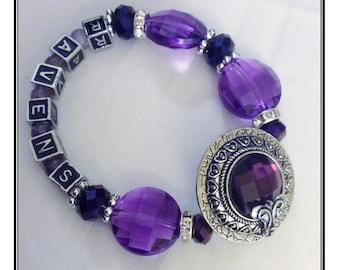 Baltimore Ravens  INSPIRED Jewelry jewelry bracelets handmaded Bracelet