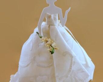 Items Similar To Bridesmaids Gift Vintage Pink Floral Handkerchief Bridal Hanky Wedding Gift