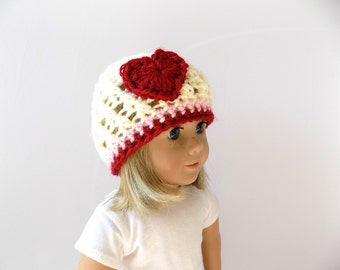 Valentine's Day Doll Hat - 18 Inch Doll Hat - AG Doll Clothes
