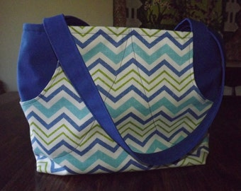 Zippered Shoulder Tote