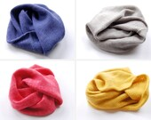 Pure Cashmere and Baby Merino Wool Mobius Infinity Scarf in Custom Colors