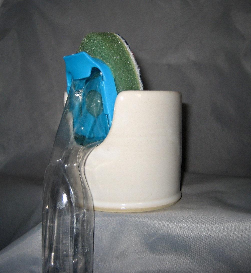 sponge wand holder ceramic white item55. Black Bedroom Furniture Sets. Home Design Ideas