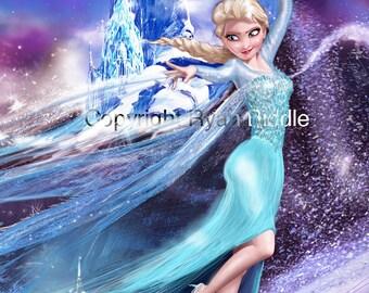 Elsa FROZEN Disney Drawing Print