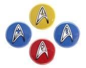 """Starfleet Insignia Button, Star Trek Fan Badge, Pinback Button, 1.25"""" Button - X17"""