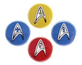 "Starfleet Insignia Button, Star Trek Fan Badge, Pinback Button, 1.25"" Button - W01-W04"