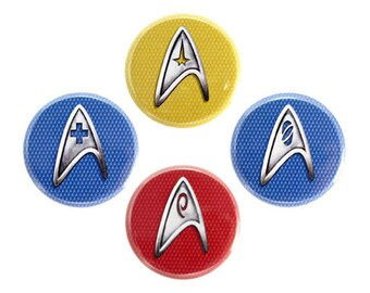 "Starfleet Insignia Button, Space Fan Badge, Pinback Button, 1.25"" Button - W01-W04"