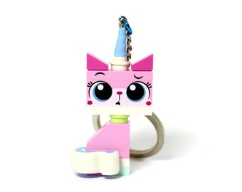 Unikitty Keychain - made from The LEGO Movie LEGO (r) Minifigure