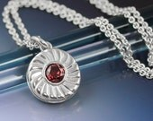 Sterling Silver Jammie Dodger Biscuit Necklace