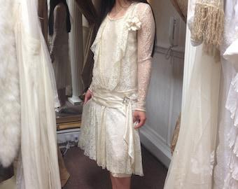 Gatsby wedding dress etsy amazing original 1920s flapper gatsby wedding dress by marvelle frocks macy co broadway new york junglespirit Gallery