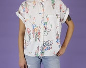Bicycle Print Shirt - M...