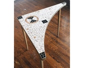 GOLD TILE BOOMERANG Table Mid Century Gorgeous Brought To You By TheHeartTheHome on Etsy!