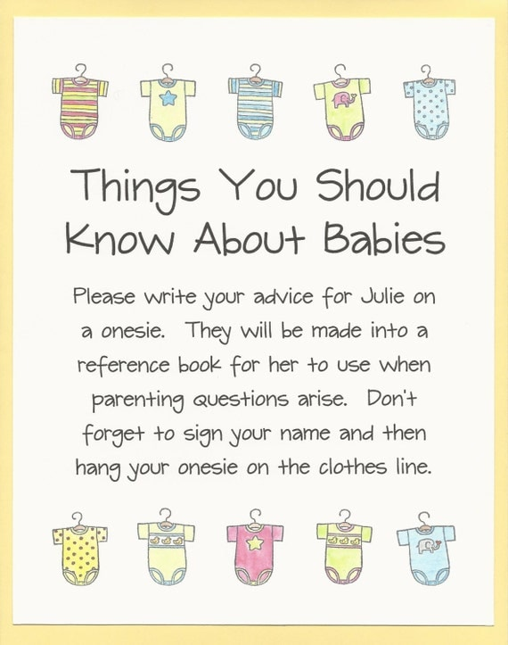 things you should know about babies baby shower game advice for