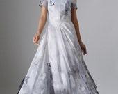 Maxi prom dress chiffon butterfly dress  (964)