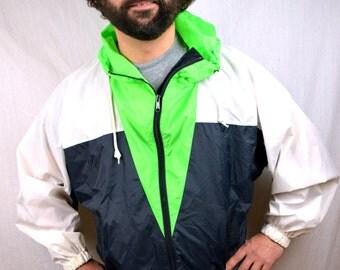 Vintage 80s 90s Neon Lightweight Jacket Windbreaker