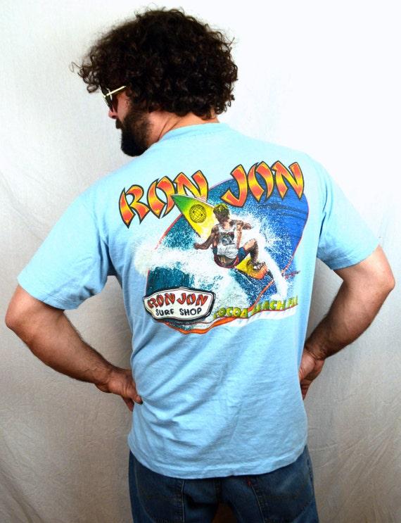 Vintage 80s ron jon surf shop tshirt tee shirt cocoa beach for Surf shop tee shirts