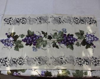Luther Travis Grape Arbor Linen tea towel Fallani & Cohn Designer Purple VINTAGE by Plantdreaming