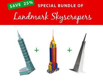 BLACK FRIDAY Cyber Monday Bundle of Landmark Skyscrapers, SAVE 25%
