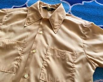 Vintage Mens 1950's/1960's DaVinci Shirt -- Size Small