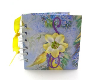 Yellow Doves Gratitude Book, gratitude journal, thank you book, thank you journal, gratitude diary, blessings book - blue, lavender, yellow