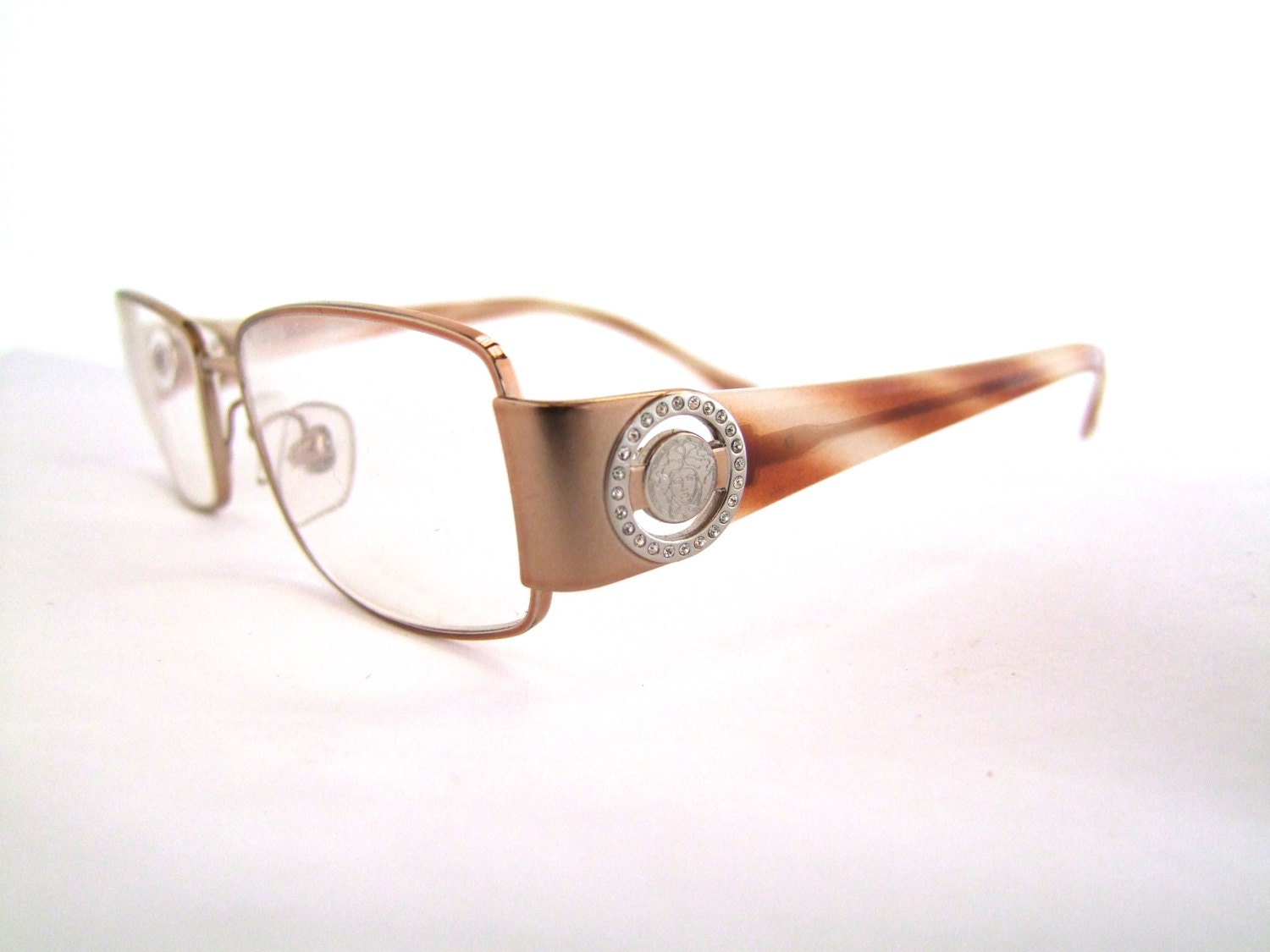 Designer Eyeglass Frames With Rhinestones : Versace Eyeglasses // with case // Rhinestones // by ...