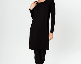 Black dress | Button dress | Simple dress | LeMuse black dress