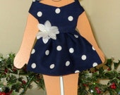 Spring Dress - and it's navy polka dot!