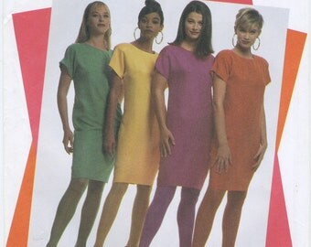 Fun Pullover Shift Dress Sewing Pattern Size 6, 8, 10, 12, 14, 16, 18, Simplicity 9766, Uncut, Sheath, Kimono Sleeves, Knee Length
