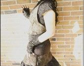 Skirt - Burning Man - Knee Length - Bohemian - Gypsy - Short - Tribal Over Skirt - Urban Fashion - Sexy - Designer Clothing - Size X- Small