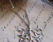 Silver Branch Necklace, Tree of Life Pendant, Everyday Necklace, Nature, Woodland, Blueartichokedesigns