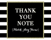 Matching Thank You Note - PRINTABLE DESIGN