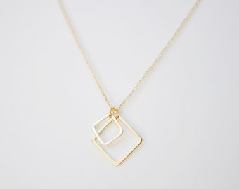 Outside the Box - Double Square Necklace