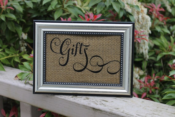 Gifts Sign, Wedding Sign, Rustic Wedding Sign