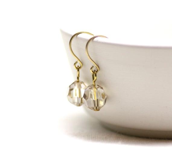golden shadow swarovski kristall ohrringe gold einfache. Black Bedroom Furniture Sets. Home Design Ideas