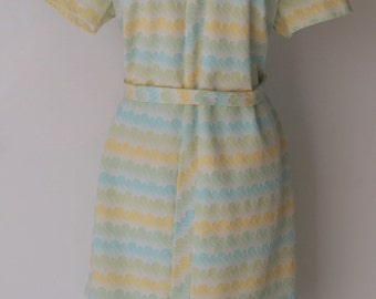 Vintage Mid Century Modern Scooter Dress Large