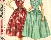 Simplicity 4641 / Vintage 50s Sewing Pattern / Dress / Size 14 Bust 32
