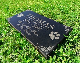 Personalized Dog Memorial  Cat Memorial Granite Stone Pet Grave Marker Engraved In Memory of Headstone Custom Engraved Garden Memorial Stone