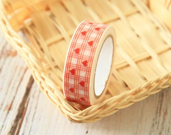 HEARTS & GRID Washi Masking Tape