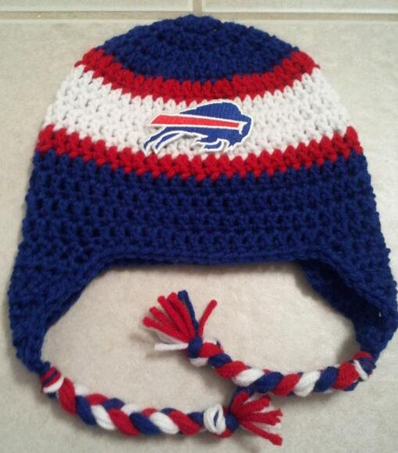 Beanie Hat With Bill Crochet Pattern : Items similar to Buffalo Bills Team Spirit NFL beanie on Etsy