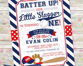 Baseball invitation | Etsy