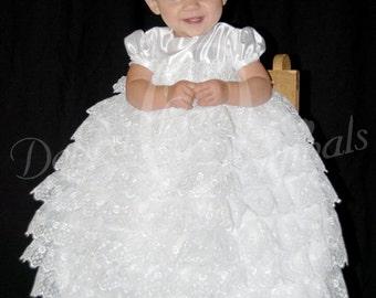 Alyssa Christening Gown, White Christening Dress, Blessing Gown, Blessing Dress, Naming Dress